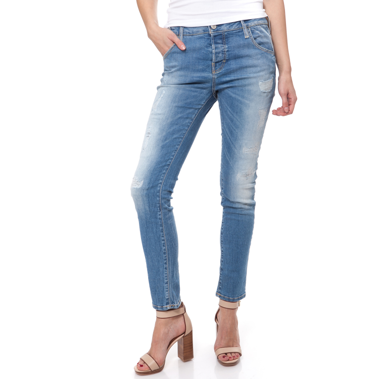 GUESS - Γυναικείο τζιν παντελόνι SKINNY BOYFRIEND Guess μπλε