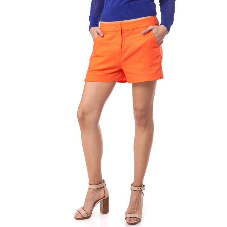 CALVIN KLEIN JEANS - Γυναικείο σορτς Calvin Klein Jeans πορτοκαλί
