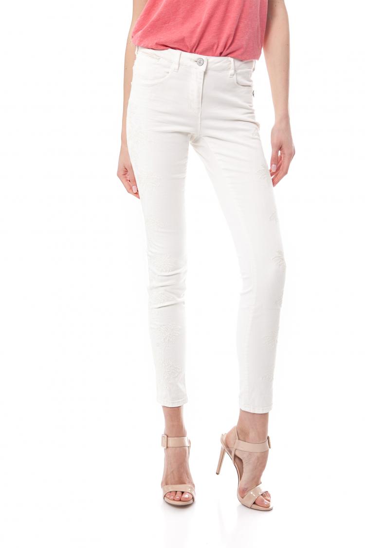 MAISON SCOTCH - Γυναικείο τζιν παντελόνι Maison Scotch λευκό