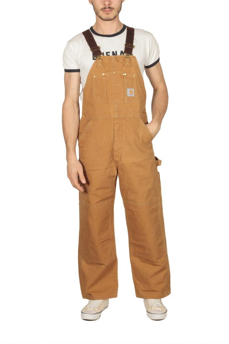90s vintage brown denim overall