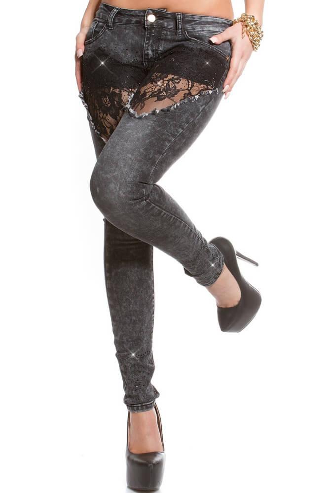Παντελόνι Τζιν - Jeans with lace K600-196