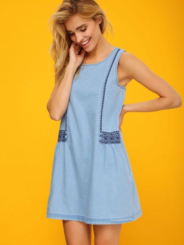 TOP SECRET top secret τζιν φορεμα boho style