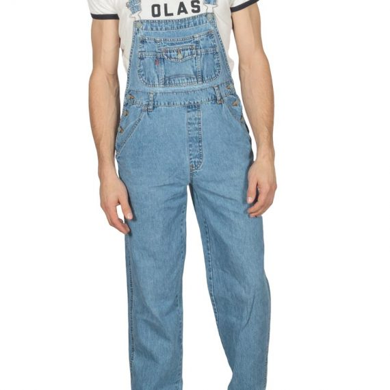 90s vintage overall middle blue