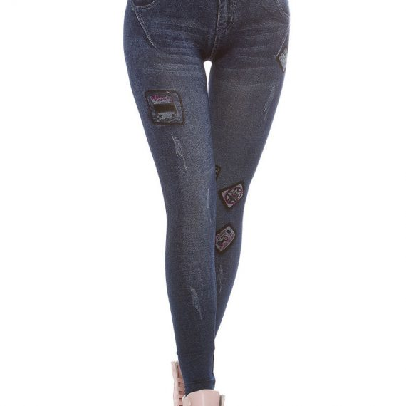 Jeans look κολάν - Μπλε