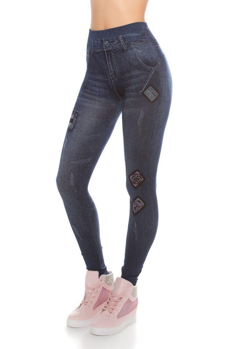 Jeans look κολάν - Μπλε 3