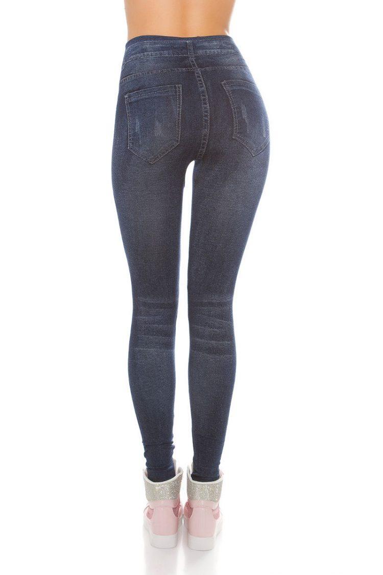 Jeans look κολάν - Μπλε 1