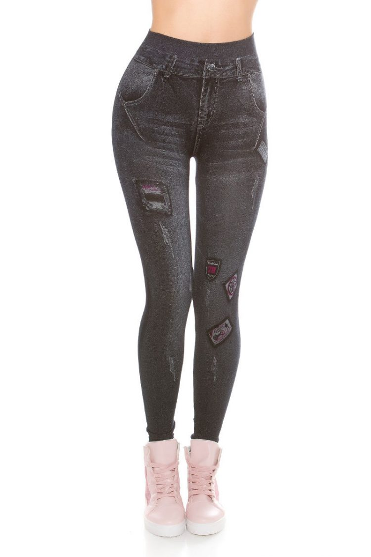 Jeans look κολάν - Σκούρο Μπλε