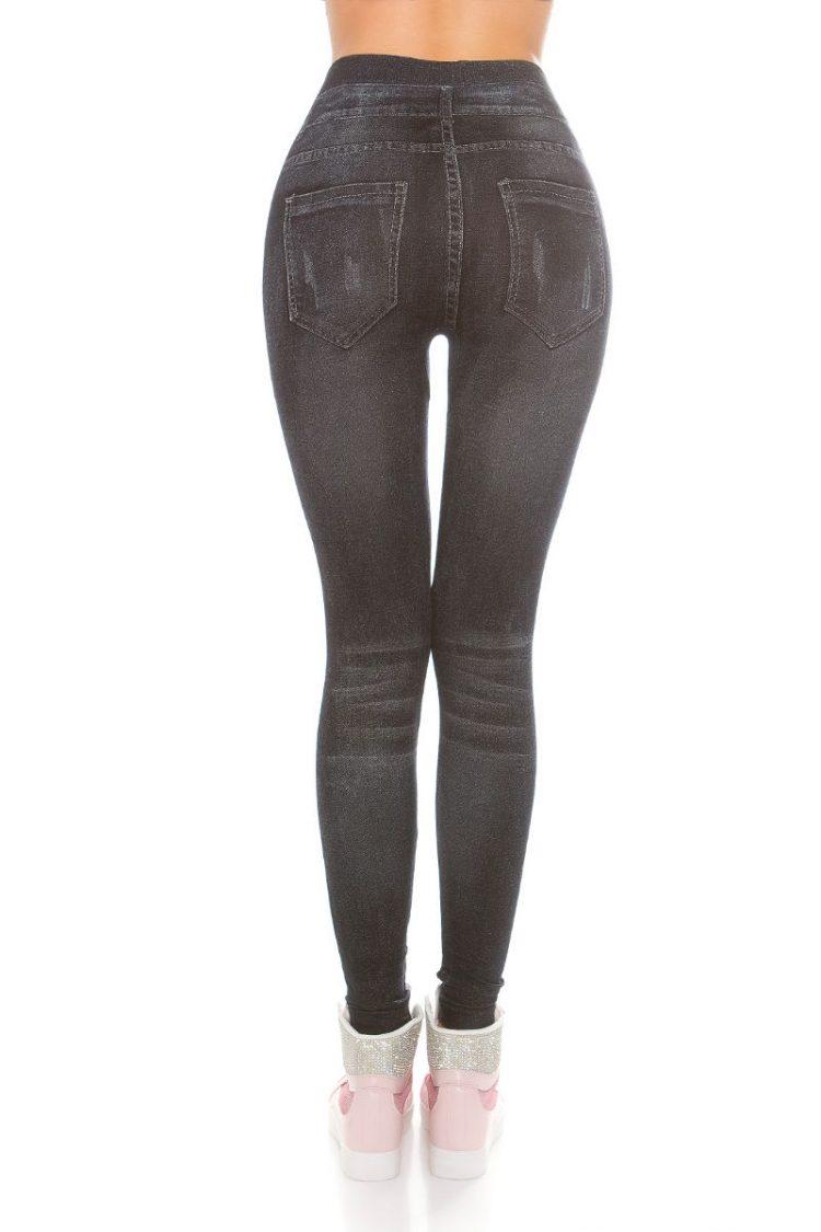 Jeans look κολάν - Σκούρο Μπλε 1