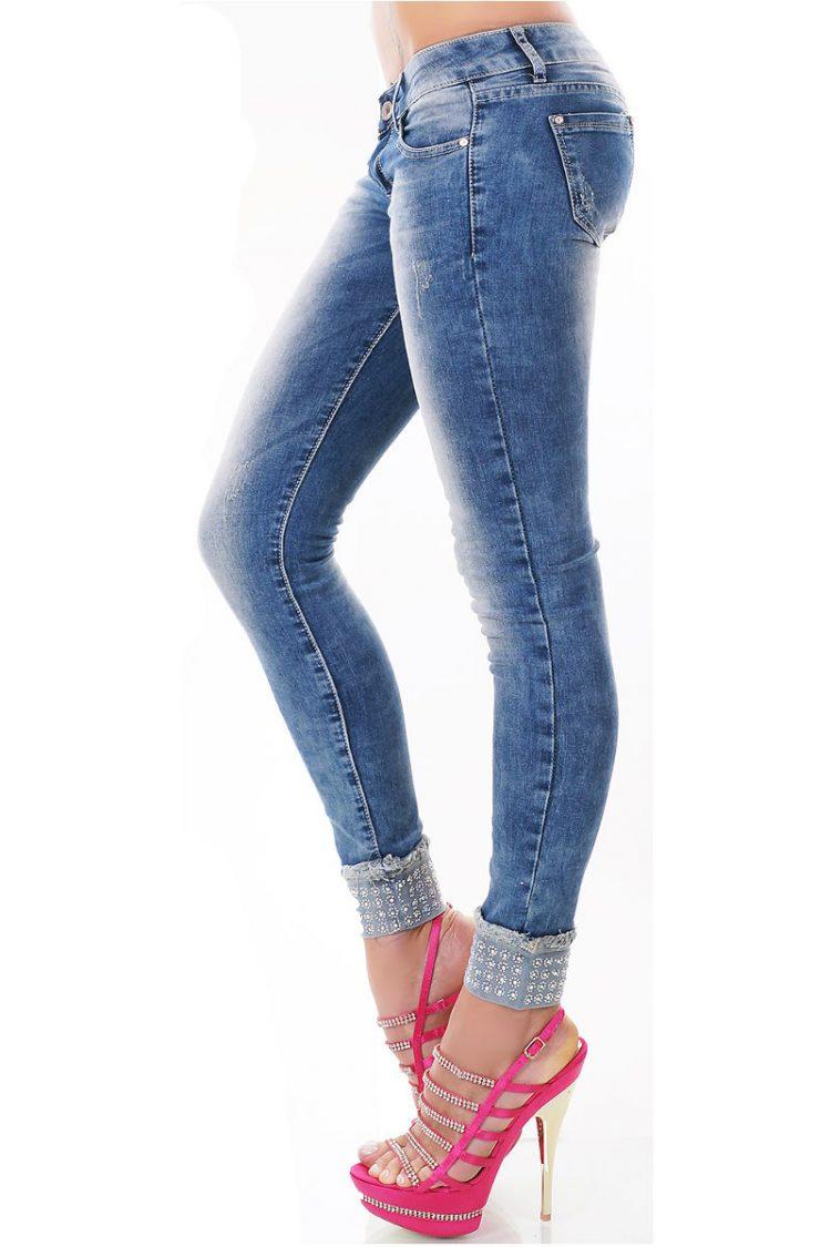 Τζιν παντελόνι με στρας - Μπλε 1