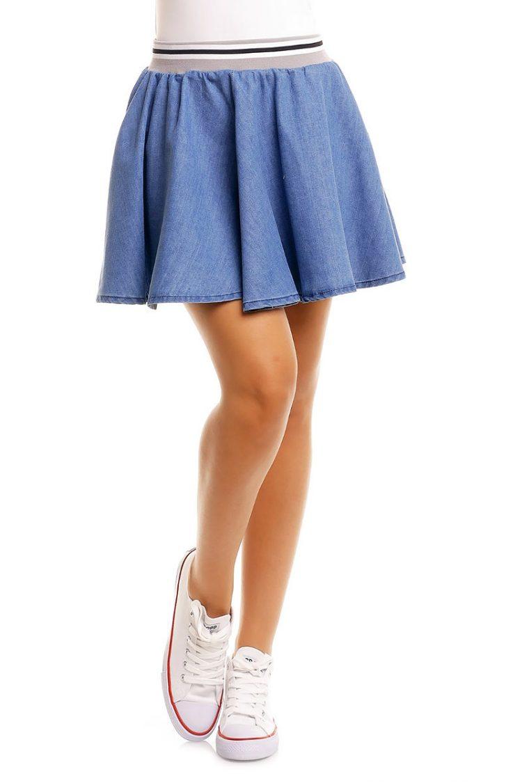Κλος τζιν μίνι φούστα Sublevel - Μπλε 2