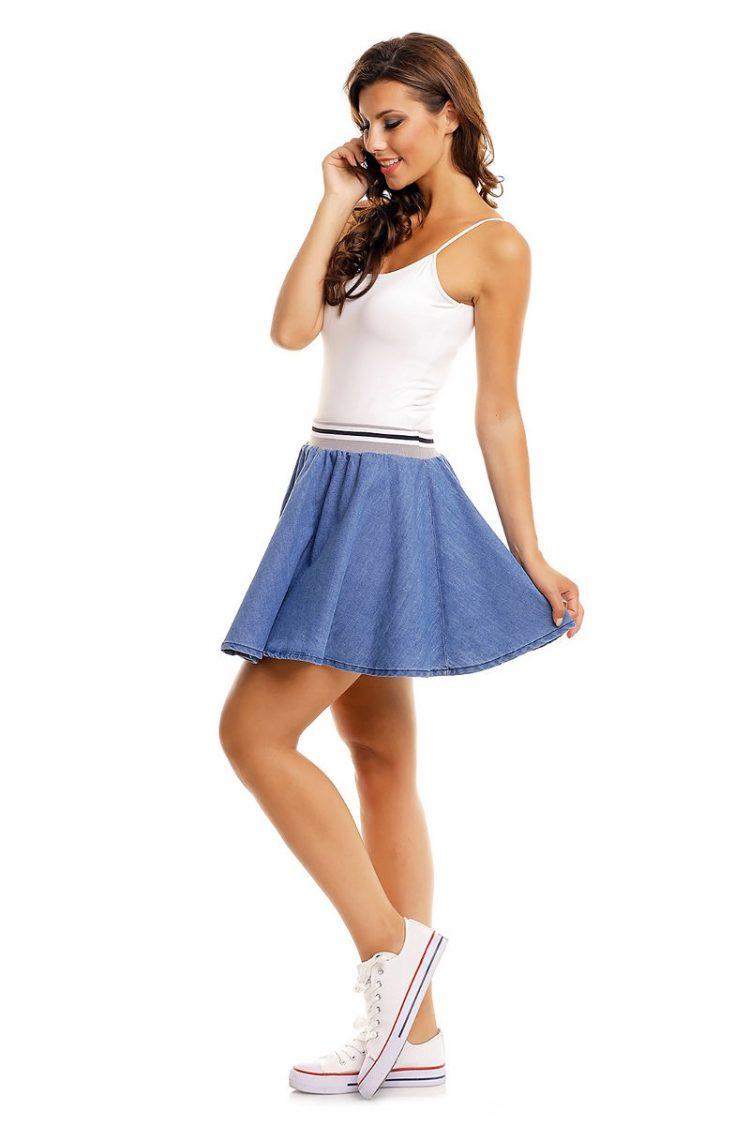 Κλος τζιν μίνι φούστα Sublevel - Μπλε 3