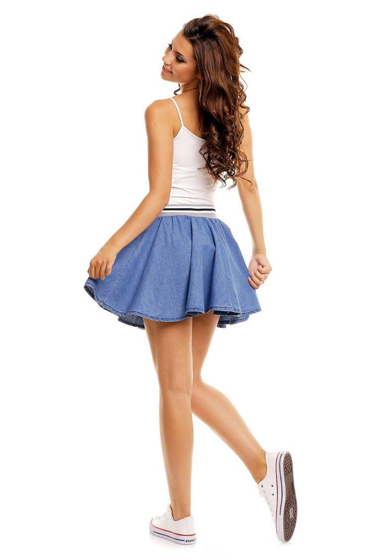 Κλος τζιν μίνι φούστα Sublevel - Μπλε 1