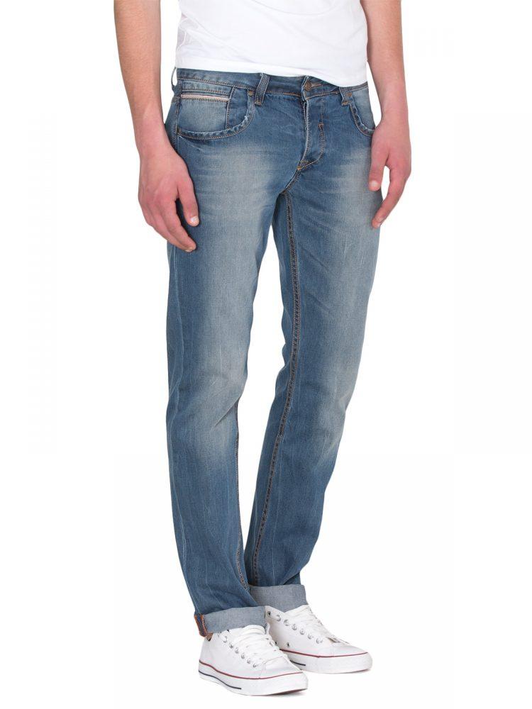 Slim Fit Ανδρικό Παντελόνι Τζίν Mid Wash