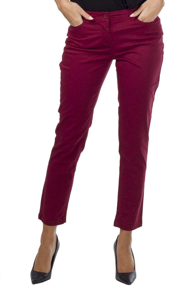 Τζιν παντελόνι με πλάγιες τσέπες - Magenta 3