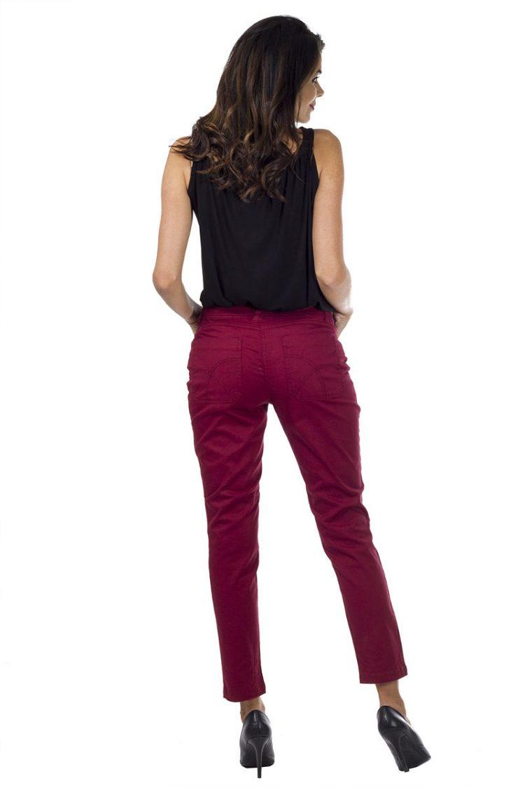 Τζιν παντελόνι με πλάγιες τσέπες - Magenta 1