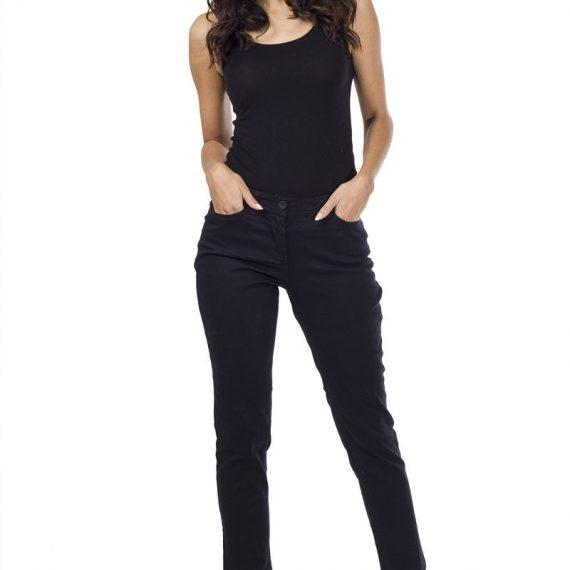 Τζιν παντελόνι με πλάγιες τσέπες - Μαύρο