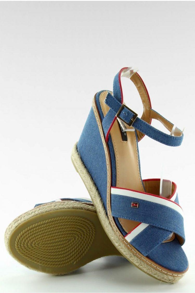 Τζιν πλατφόρμες εσπαντρίγιες - Μπλε 3