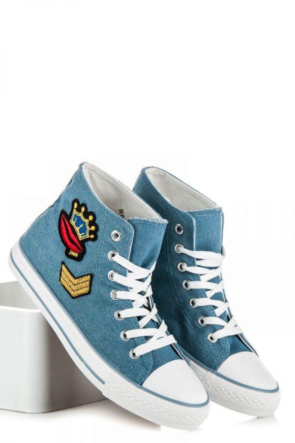 Τζιν μποτάκια με μπαλώματα CNBR63L - Μπλε