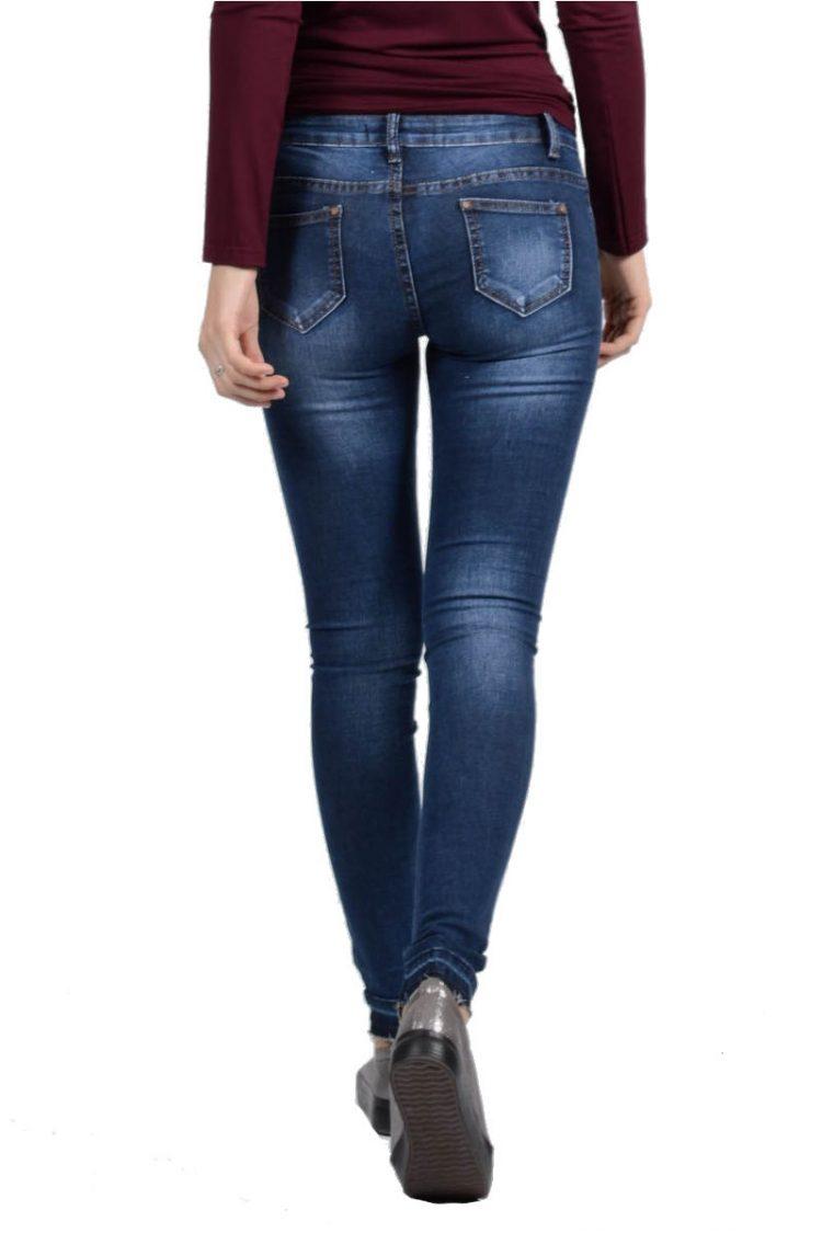 Τζιν παντελόνι με σκίσιμο - Μπλε 1