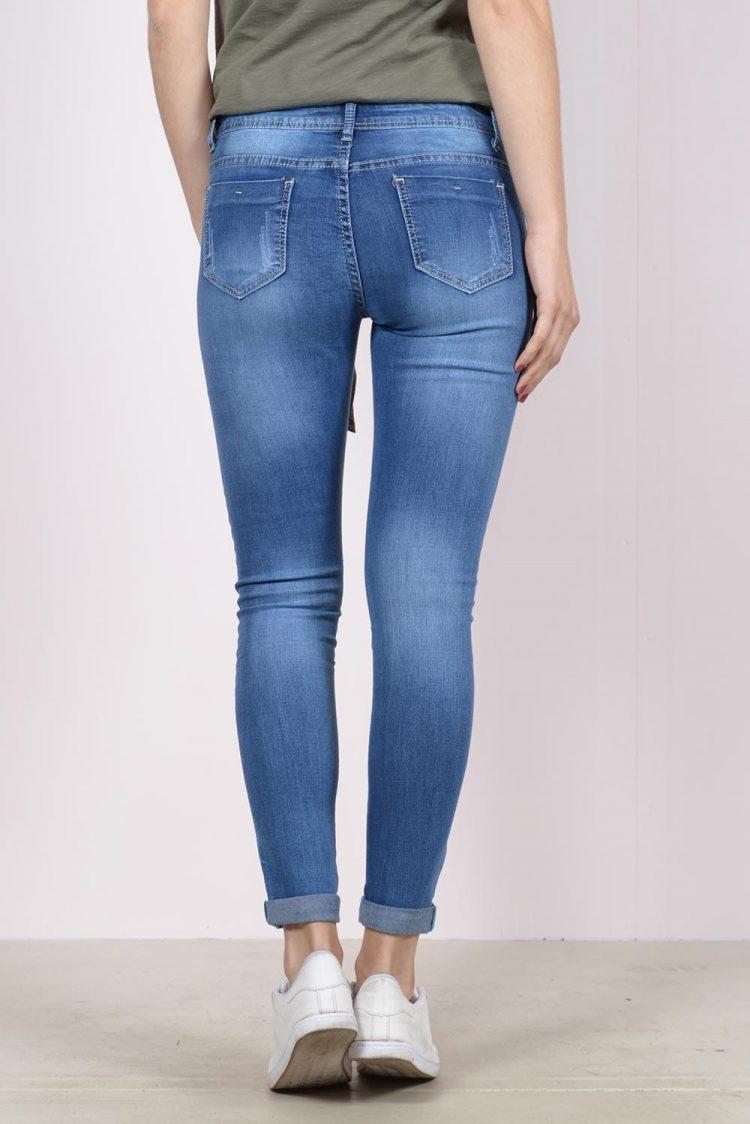 Ξεβαμμένο τζιν παντελόνι - Μπλε 1