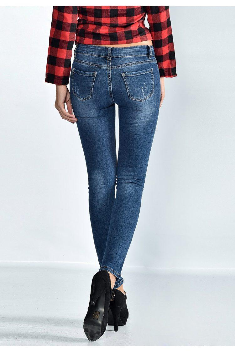 Τζιν παντελόνι με σκισίματα - Μπλε 1