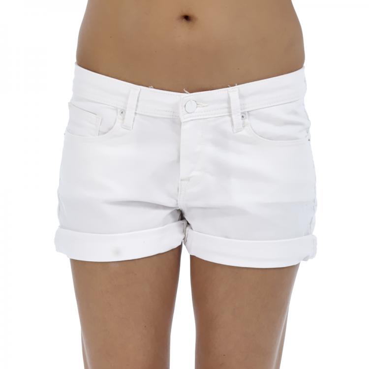 CALVIN KLEIN JEANS - Γυναικείο σορτς Calvin Klein Jeans λευκό