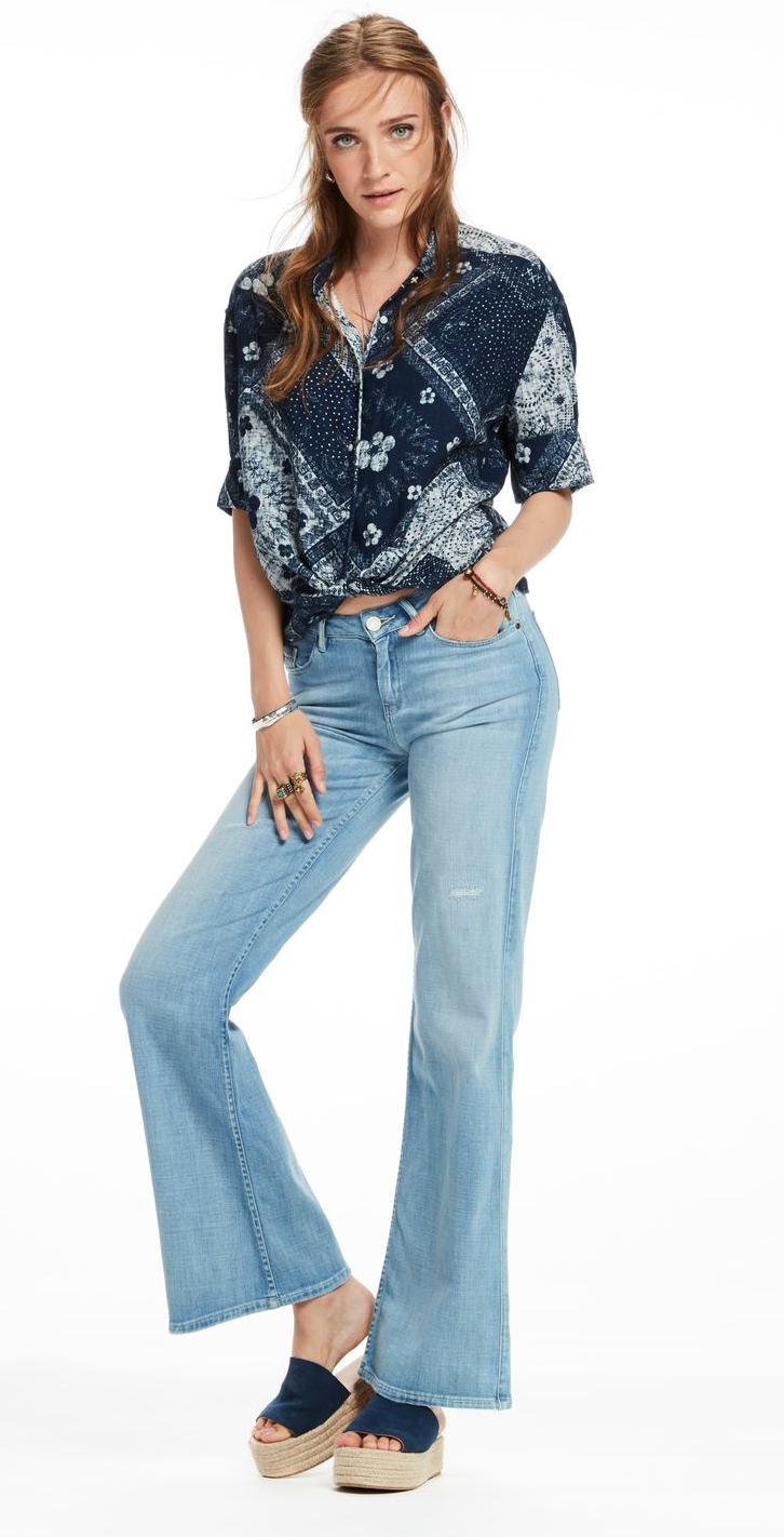 Scotch and Soda La Bohemienne Flare - Bootleggers Queen Mid Rise Flare Fit jeans (Denim)