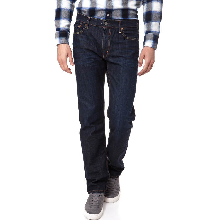LEVI'S - Ανδρικό τζιν παντελόνι Levi's 504 REGULAR STRAIGHT FIT σκούρο μπλε