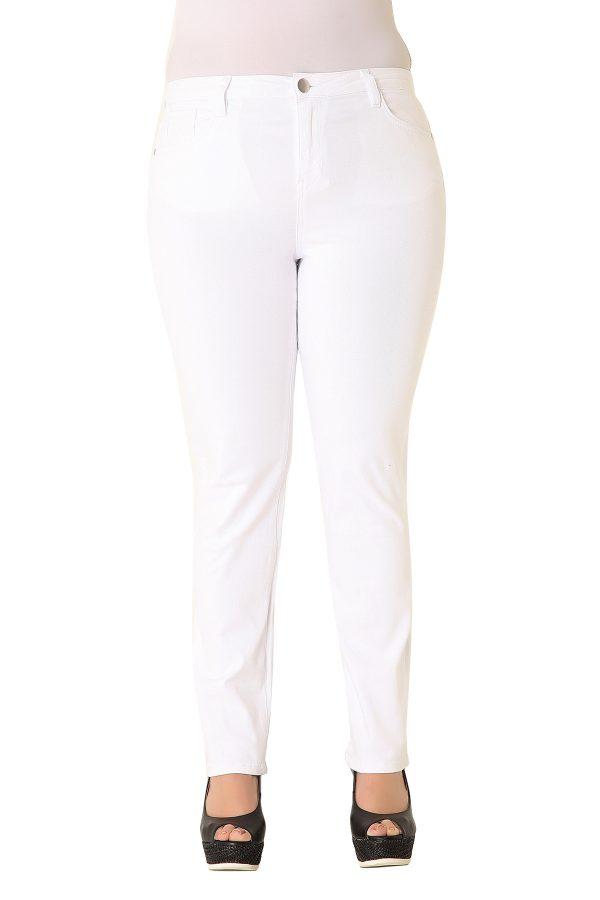Λευκό παντελόνι τζιν slim fit