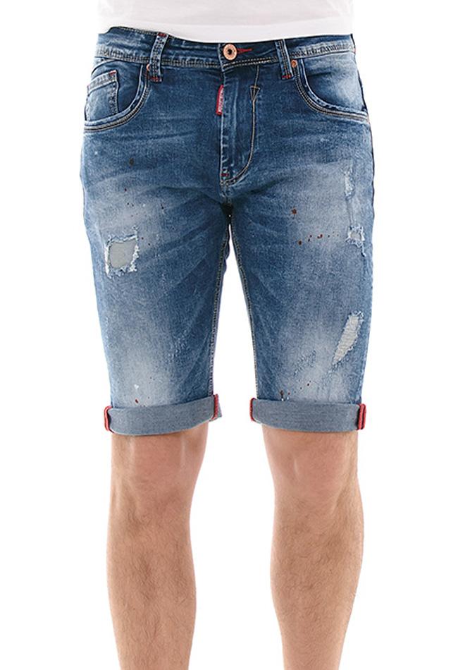 Ανδρική Βερμούδα Jean Fashion Splash