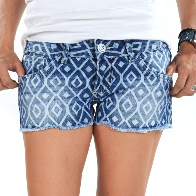 Brokers Woman Shorts-101-8638 Denim