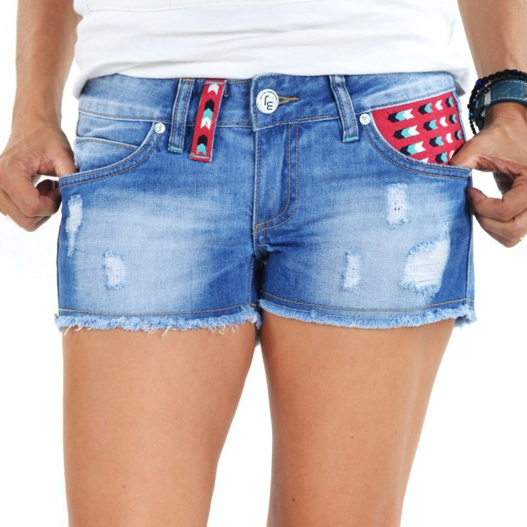 Brokers Woman Shorts-103-8328 Denim