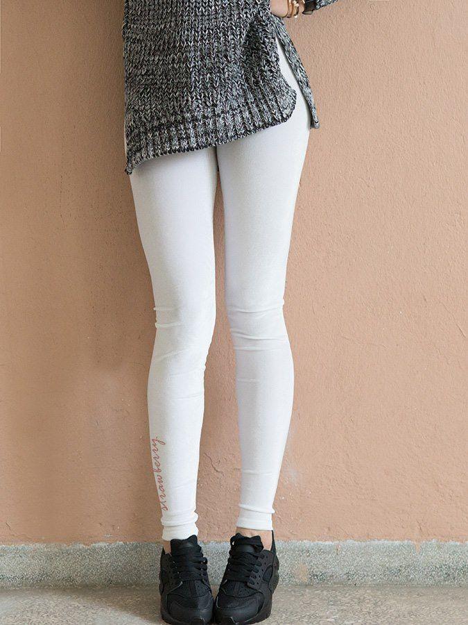 WHITE VELVET LEGGINGS 2