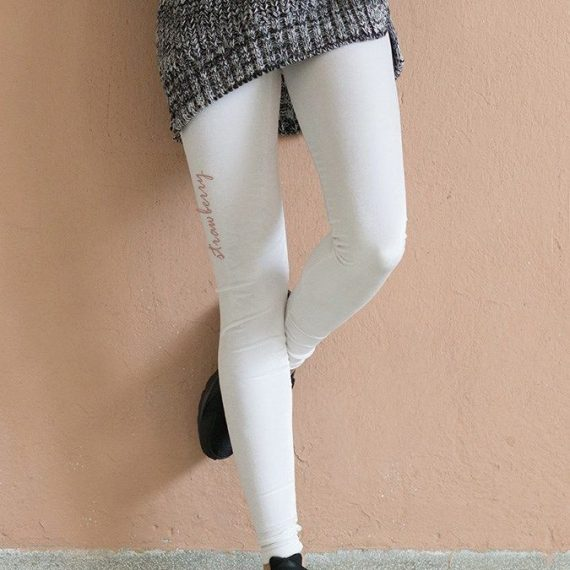 WHITE VELVET LEGGINGS