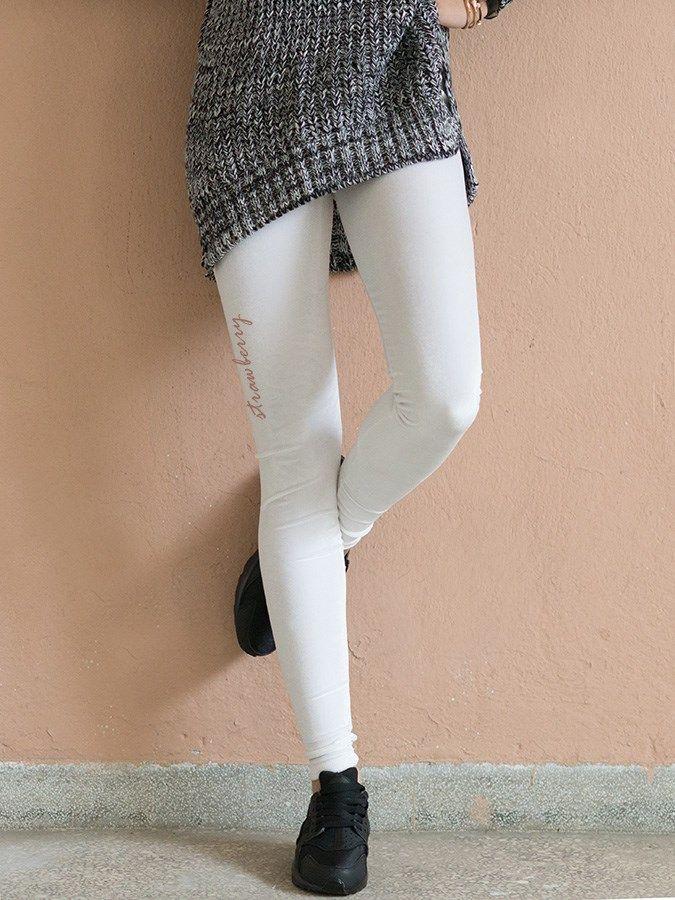 WHITE VELVET LEGGINGS