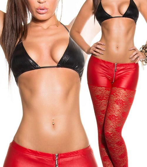 Κολάν - Sexy Red collant LE50575 C-Red