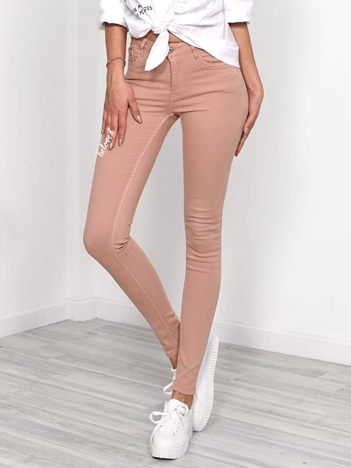 DUSTY PINK HI WAISTED JEAN