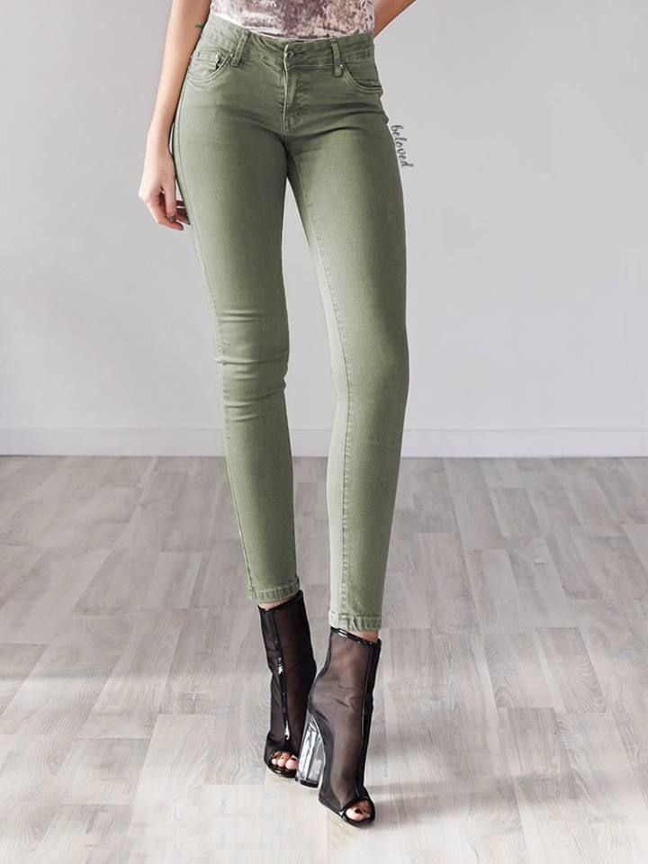 MINT HI WAISTED JEANS