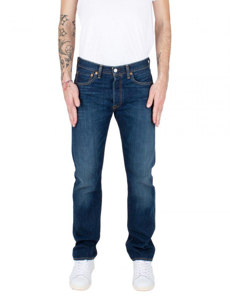 LEVIS Παντελόνι 501 LEVISORIGINAL FIT STATE DARK INDIGO-WORN IN LEV00501-2250 117