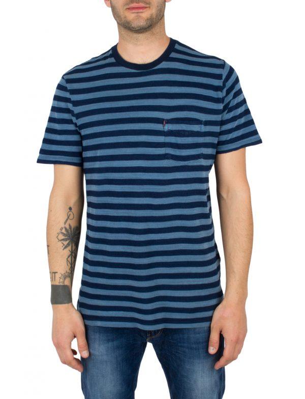 LEVIS T-Shirt SS SETIN SUNSET POCKET HALF ST - DARK INDIGO - WORN IN LEV29813-0005 117