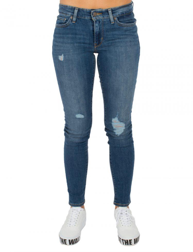 LEVIS Παντελόνι 711 SKINNY INDIGO TRIUMPH--MED INDIGO-FLAT FINISH LEV18881-0175 117