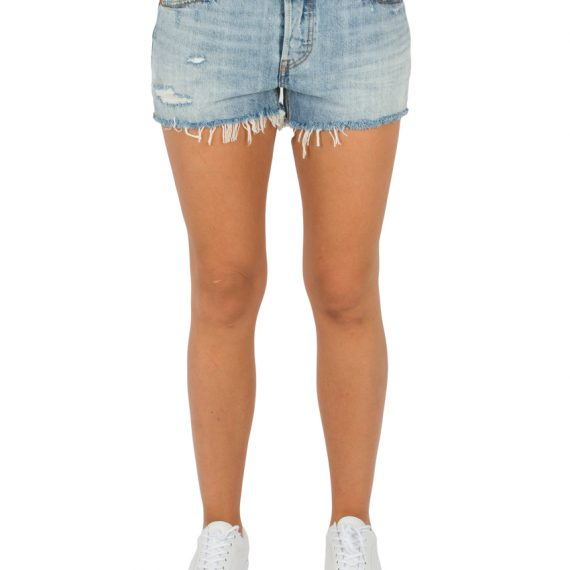 LEVIS Σορτς 501 SHORT WAVELINE-MED INDIGO-WORN IN LEV32317-0035 117
