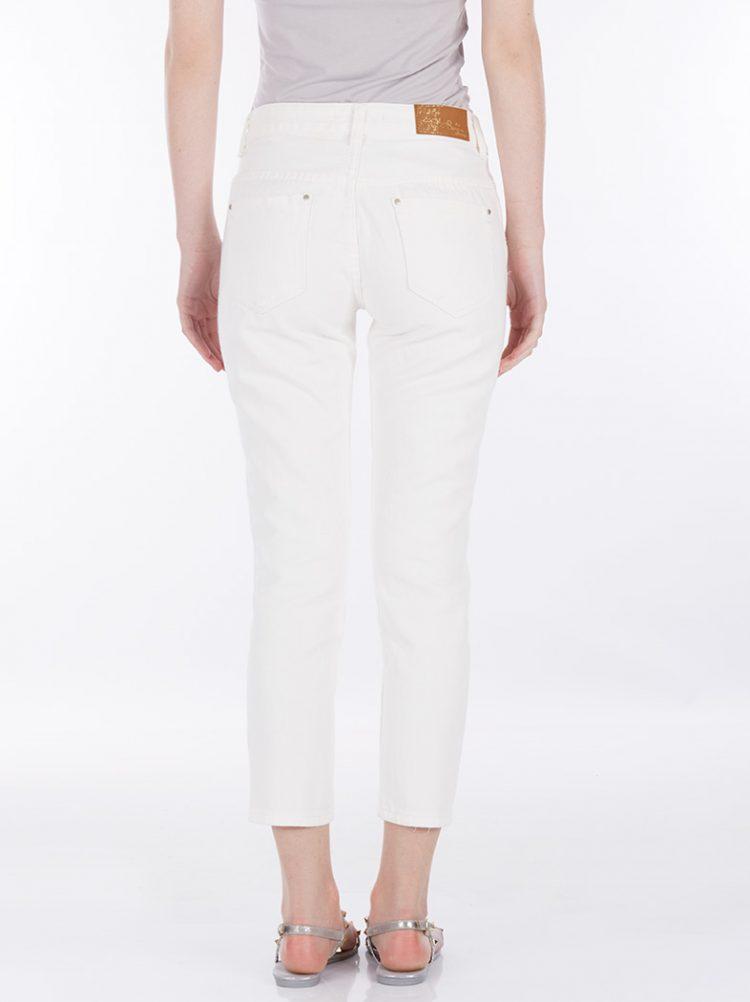 Τζιν παντελόνι με σκισίματα - Άσπρο 1