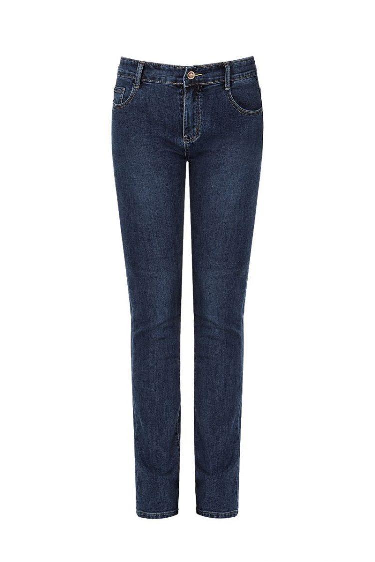 Τζιν παντελόνι σε ίσια γραμμή - Μπλε
