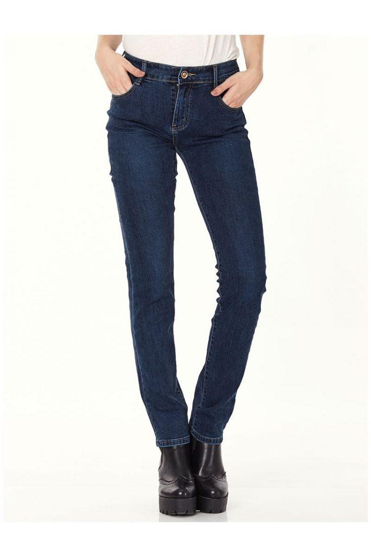 Τζιν παντελόνι σε ίσια γραμμή - Μπλε 1
