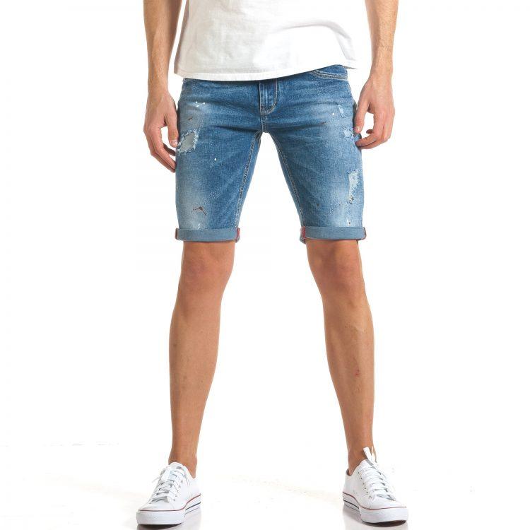Ανδρικό γαλάζιο τζιν βερμούδα I Fashion