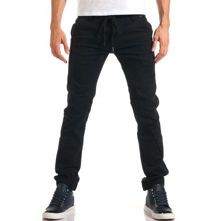 Ανδρικό μαύρο παντελόνι TMK