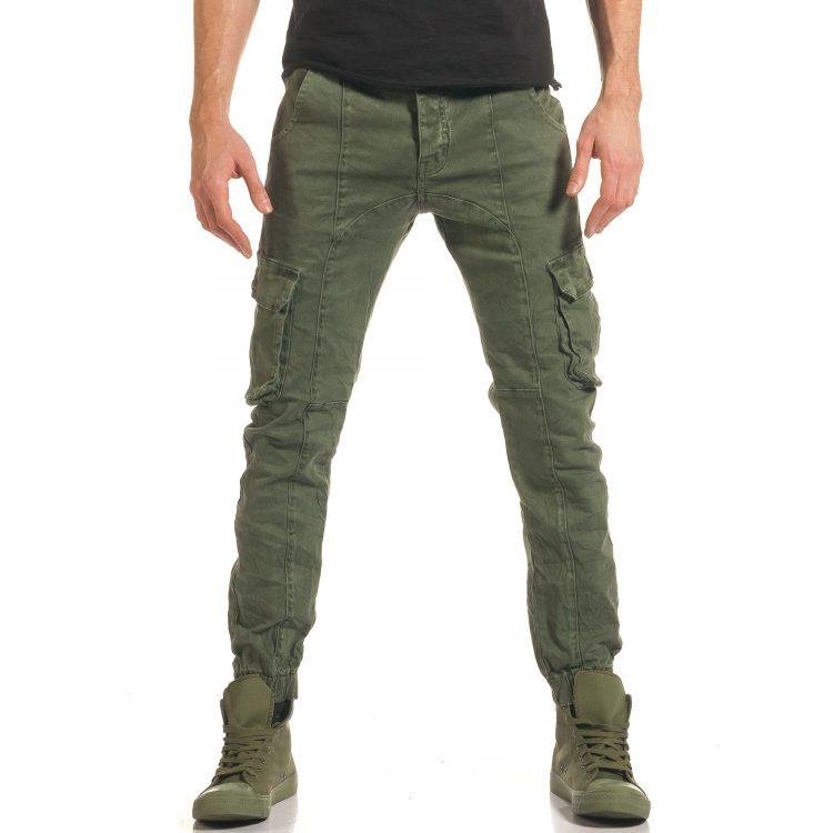 Ανδρικό πράσινο παντελόνι Cowboy