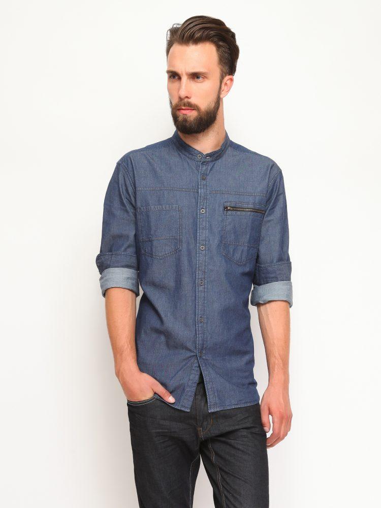 DRYWASH τζιν πουκαμισο