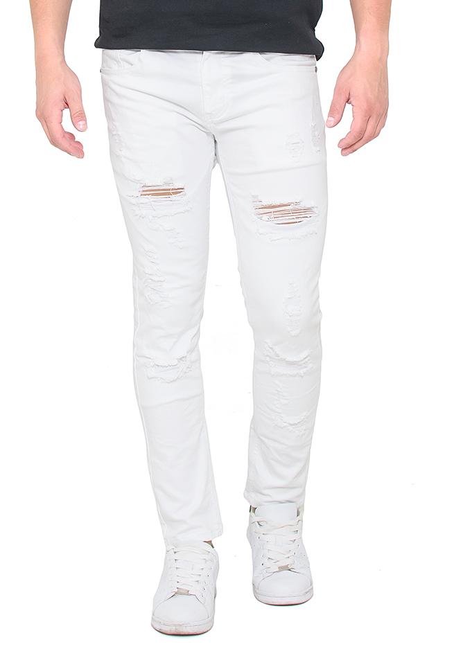 Ανδρικό Jean White Pants